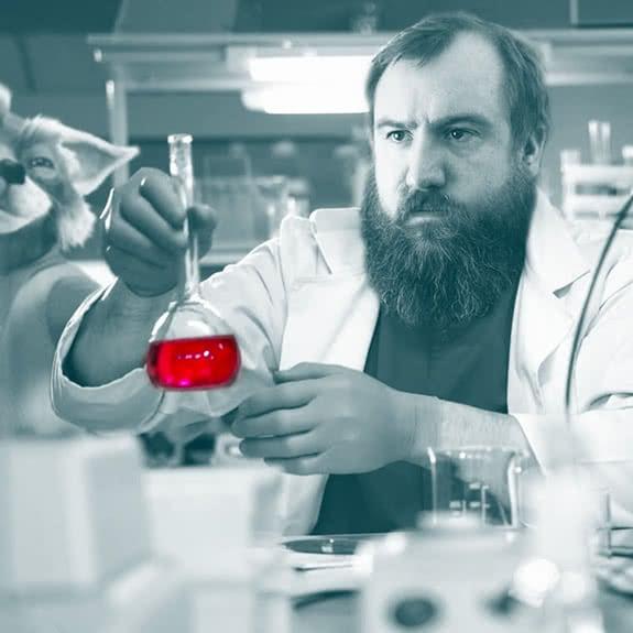 bernie in The lab