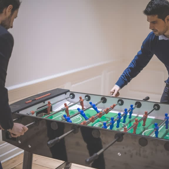 playing fussball