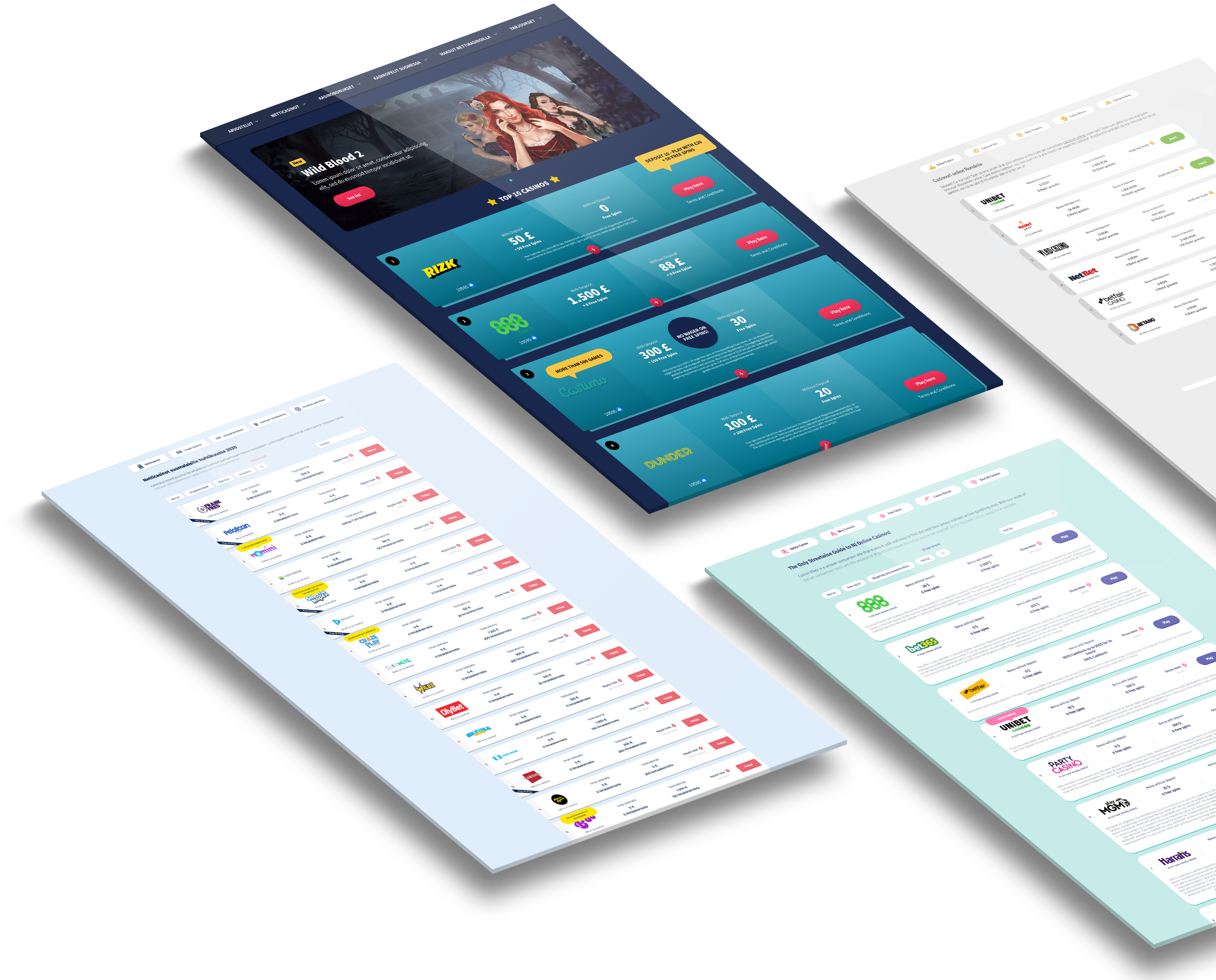 Overview of our casinoguide websies